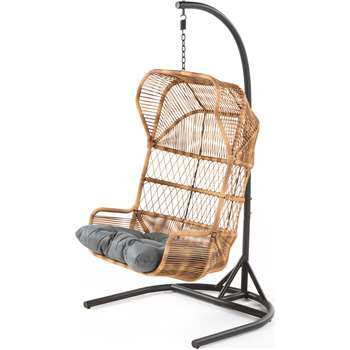 Lyra Outdoor Hanging Chair, Charcoal Grey (184 x 99cm)