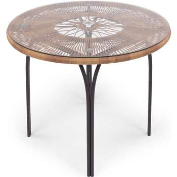 Lyra Outdoor Round Dining Table, Charcoal Grey (73.5 x 90cm)