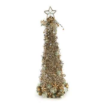 MacKenzie-Childs - Snowfall Beaded Tree - 46cm (H46 x W15.2 x D15.2cm)
