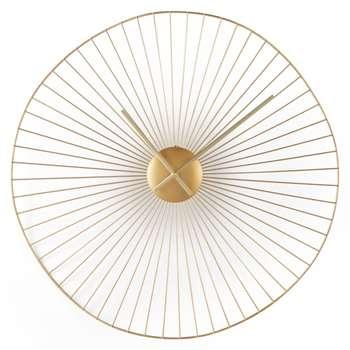 Macon Decorative Sculptural Wire Large Clock, Brass (Diameter 60cm)