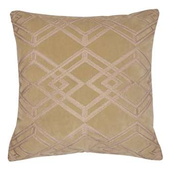 Maddison Embroidered Antique Gold Cushion (H45 x W45cm)