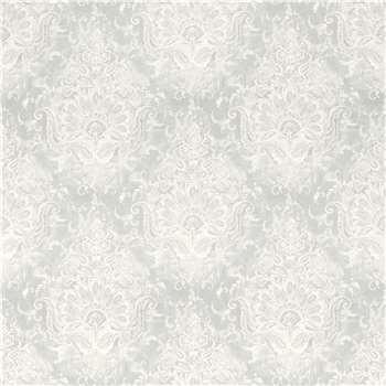 Maddox Silver Floral Wallpaper