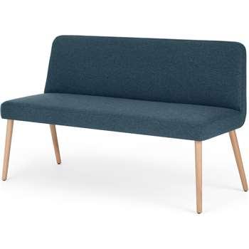 MADE Essentials Adams Dining Bench, Orleans Blue (H83 x W140 x D55cm)
