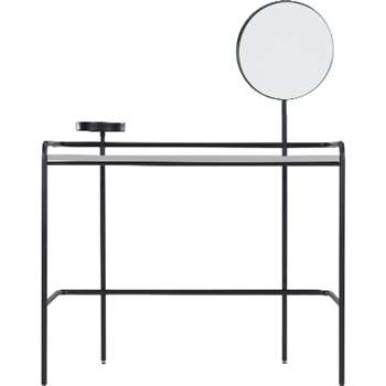 Made Essentials Alana Dressing Table, Black (129 x 46cm)