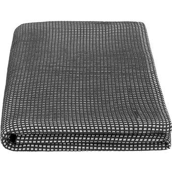 MADE Essentials Alva 100% Cotton Waffle Bed throw, Charcoal Grey (150 x 200cm)