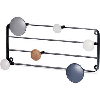 MADE Essentials Apartment Wall Hooks, Tonal Grey (H27 x W45 x D9cm)