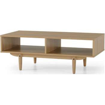 MADE Essentials Asger Storage Coffee Table, Oak Effect (H40 x W110 x D55cm)