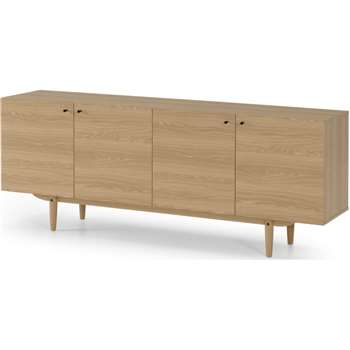 MADE Essentials Asger Wide Sideboard, Oak Effect (H70 x W180 x D41cm)