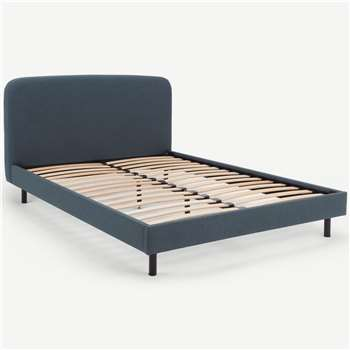 MADE Essentials Besley Super King Size Bed, Aegean Blue (H96 x W194 x D219cm)
