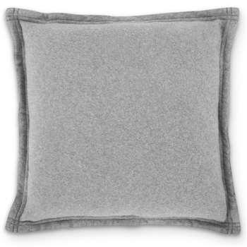 MADE Essentials Brosse 100% Cotton Fleece Cushion, Grey (H45 x W45cm)