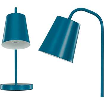 Made Essentials Clyde Table Lamp, Teal (34 x 23cm)