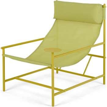 MADE Essentials Danta Garden Chair, Chartreuse (H81 x W69 x D84cm)