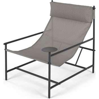 MADE Essentials Danta Garden Chair, Grey (H81 x W69 x D84cm)