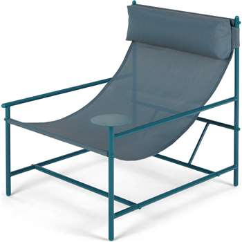 MADE Essentials Danta Garden Chair, Teal (H81 x W69 x D84cm)