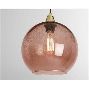 MADE Essentials Edna Lamp Shade, Blush (H23 x W25 x D25cm)