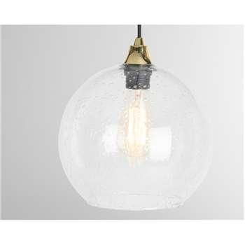 MADE Essentials Edna Lamp Shade, Clear (H23 x W25 x D25cm)