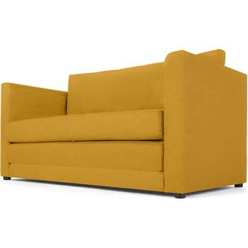 MADE Essentials Eli Sofa Bed, Butter Yellow (H75 x W142 x D70cm)