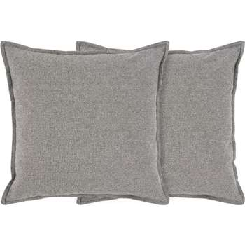 Made Essentials Elvin Set of 2 Chambray Cushions, Grey (45 x 45cm)
