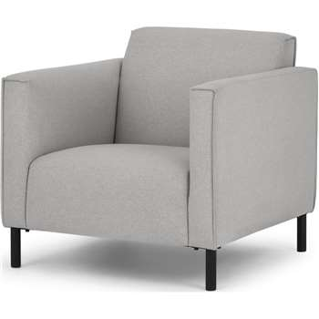 MADE Essentials Herron Armchair, Hail Grey (H75 x W75 x D82cm)