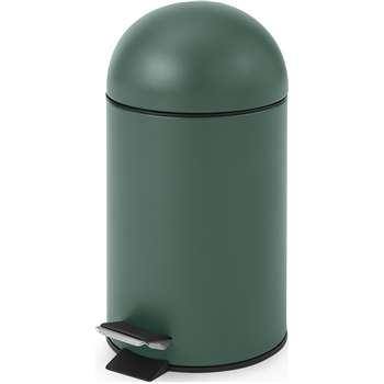 MADE Essentials Joss 3L Pedal Bin, Dark Green (H33 x W17 x D17cm)