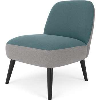 MADE Essentials Kada Accent Armchair, Sherbert Blue (H79 x W63 x D76cm)