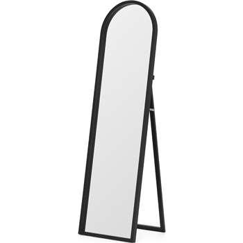 MADE Essentials Keily Freestanding Arch Mirror, Black (H153 x W43 x D41cm)