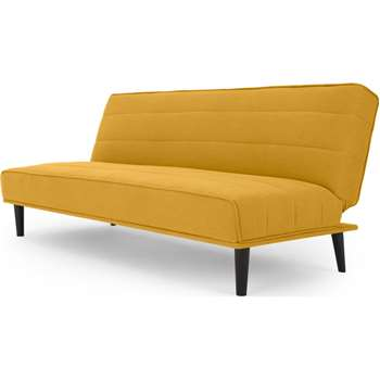 MADE Essentials Kitto Sofa Bed, Butter Yellow (H80 x W183 x D85cm)