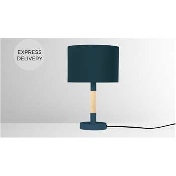 MADE Essentials Kyle Table Lamp, Teal (H37 x W23 x D23cm)