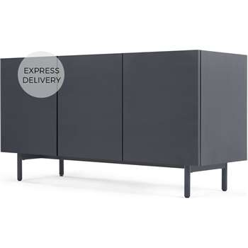 MADE Essentials Mino sideboard, Dark Grey and Oak (H67 x W120 x D42cm)