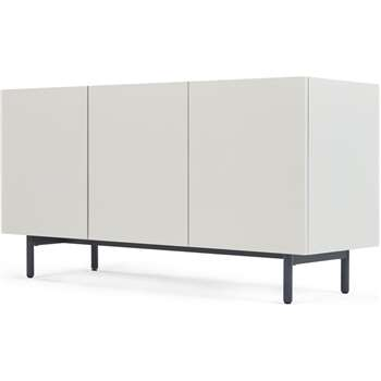 MADE Essentials Mino Sideboard, Oak and Ivory White (H67 x W120 x D42cm)