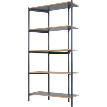 Made Essentials Mino Tall Shelves, Grey (170 x 90cm)