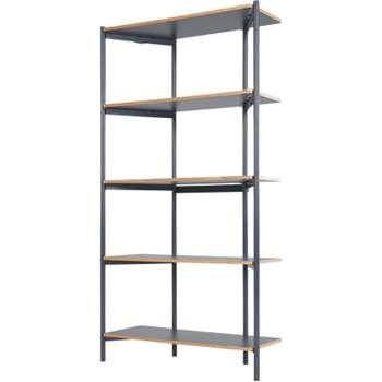 Made Essentials Mino Tall Shelves, Grey (170 x 90cm)