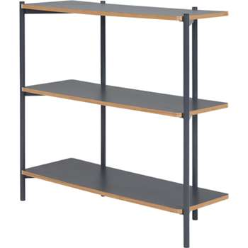 Made Essentials Mino Wide Shelves, Grey (93 x 106cm)
