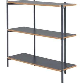 Made Essentials Mino Wide Shelves, Grey (93 x 106cm)