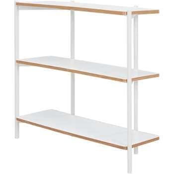 Made Essentials Mino Wide Shelves, White (93 x 106cm)