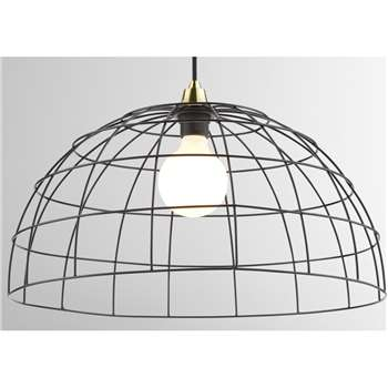 MADE Essentials Moss Pendant Lamp Shade Lamp, Black (H26 x W50cm)
