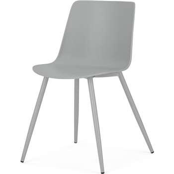 MADE Essentials Newel Dining Chair, Grey (H77 x W49 x D52cm)