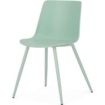 MADE Essentials Newel Dining Chair, Mint (H77 x W49 x D52cm)