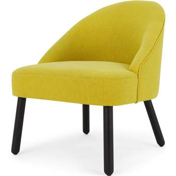 MADE Essentials Nial Accent Chair, Chartreuse (H75 x W60 x D68cm)