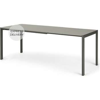 MADE Essentials Swift 4-8 Seat Extending Dining Table, Tonal Grey (H75 x W206 x D80cm)