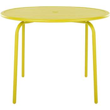 Made Essentials Tice 4 Seater DInIng Table, Chartreuse (73 x 95cm)