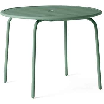 MADE Essentials Tice Garden 4 Seater Dining Table, Green (H73 x W95 x D95cm)