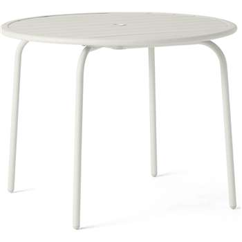 MADE Essentials Tice Garden 4 Seater Dining Table, Off White (H73 x W95 x D95cm)