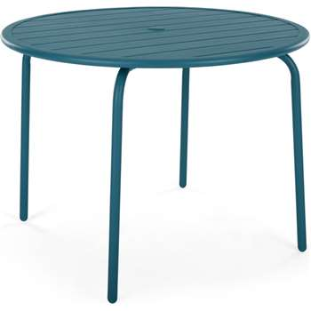 MADE Essentials Tice Garden 4 Seater Dining Table, Teal (H73 x W95 x D95cm)