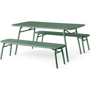 MADE Essentials Tice Garden Dining Bench set, Green