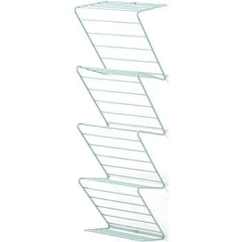 MADE Essentials Warren Freestanding or Wall Mounted Shoe Rack, Blue (H28 x W98 x D27cm)