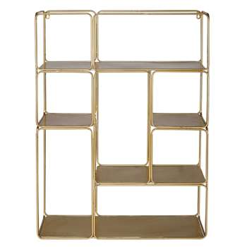 MADELINE Metal Shelf In Gold (79 x 60cm)