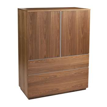 Madison storage cupboard walnut (130 x 100cm)