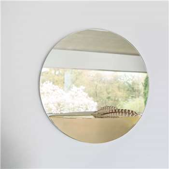 Mae Circular Mirror with Shelf (H40 x W40 x D12cm)
