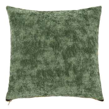 MAELY Green and Ochre Cushion Cover (H40 x W40cm)
